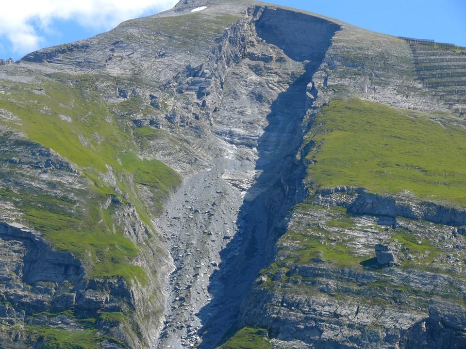 The hillside opposite