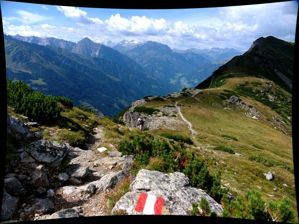 Turn left when you reach the ridge