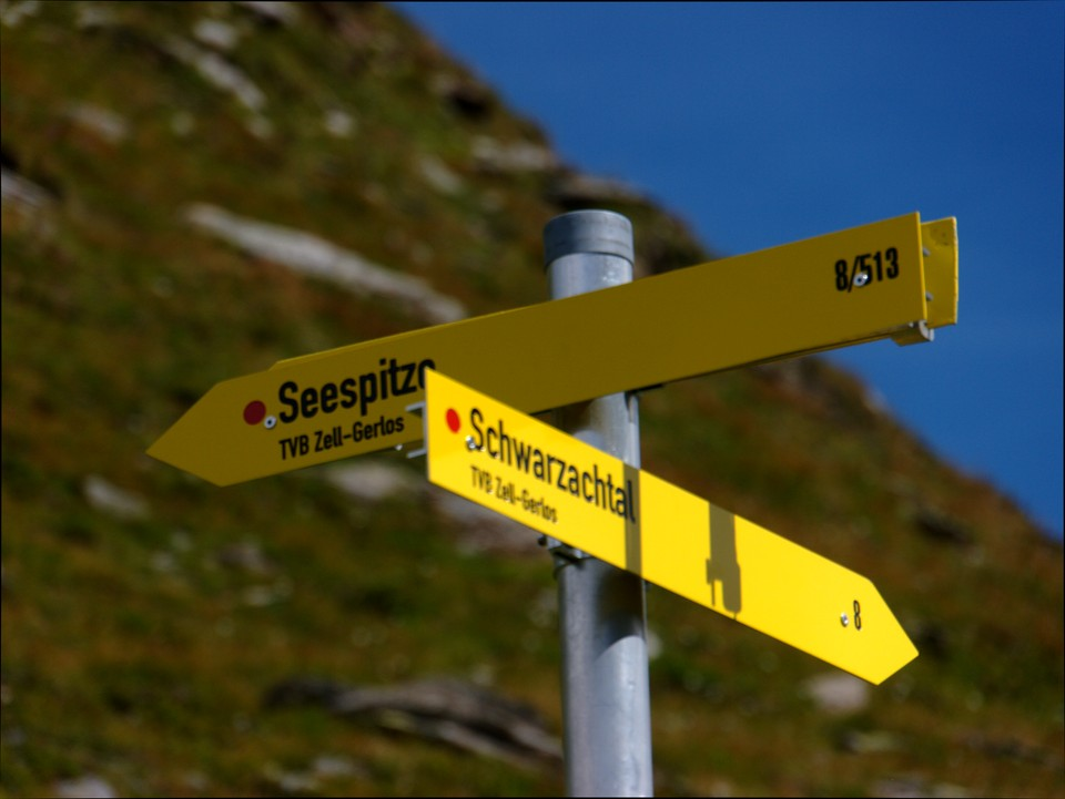 Follow the sign up the hill for Seespitze from the top of the coll