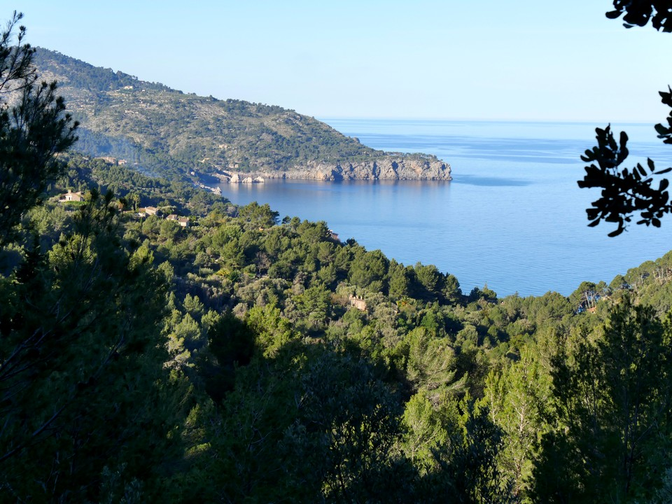 View of the coastline to Cala Deia and Punta de Deia