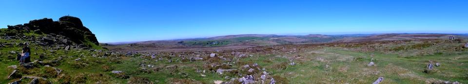 Dartmoor Panorama, Haytor view north