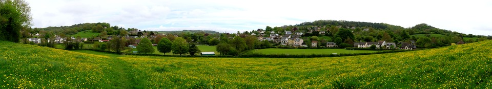 Panorama of the village of Uplyme