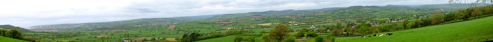 A panorama of Seaton, Colyford, Colyton and the Axe valley