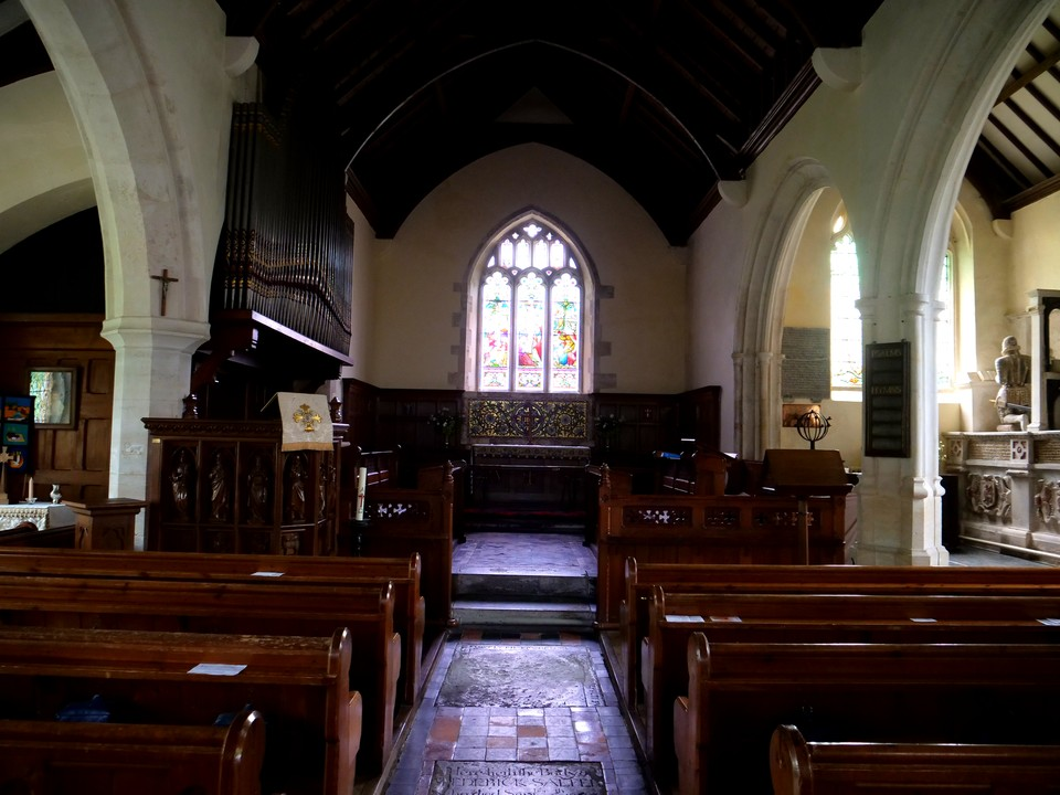 Inside Musbury Church