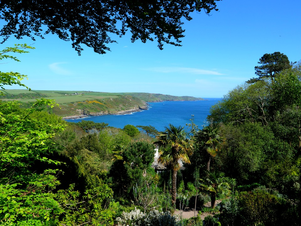 Overbecks garden has superb coastal views
