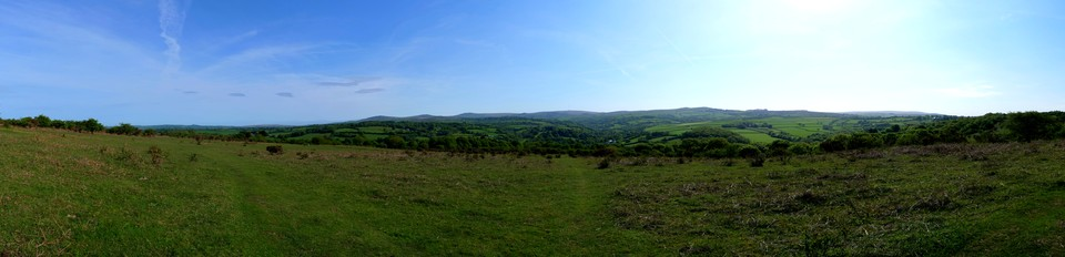 Panorama looking towards Dartmoor from near Horrabridge