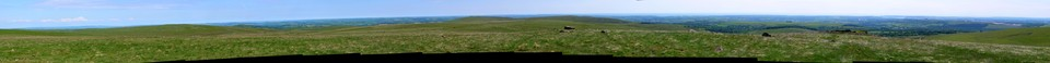 Dartmoor Panorama: Another wide panorama from the top of Sharp Tor