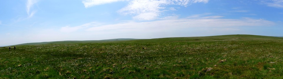 Dartmoor Panorama: The view west from Snowdon. Red Lake to Ryder's Hill