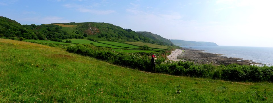 Panorama East Prawle, Horseley Cove. Start Point in the distance