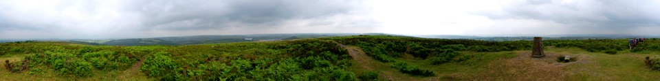 Panorama of the view from the top of Haddon Hill - Hadborough at the start of the walk.