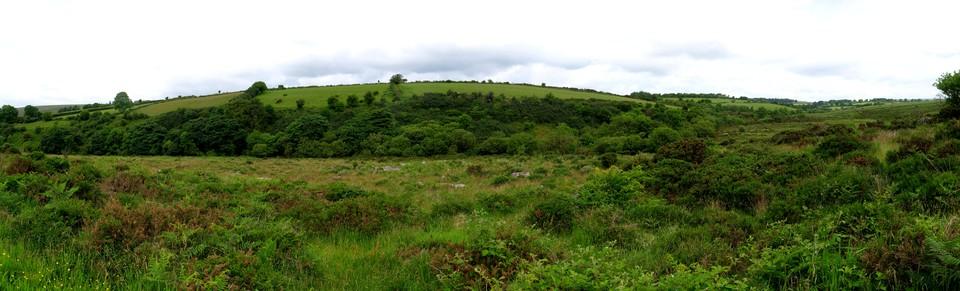 Moorland fields beside the Walla Brook