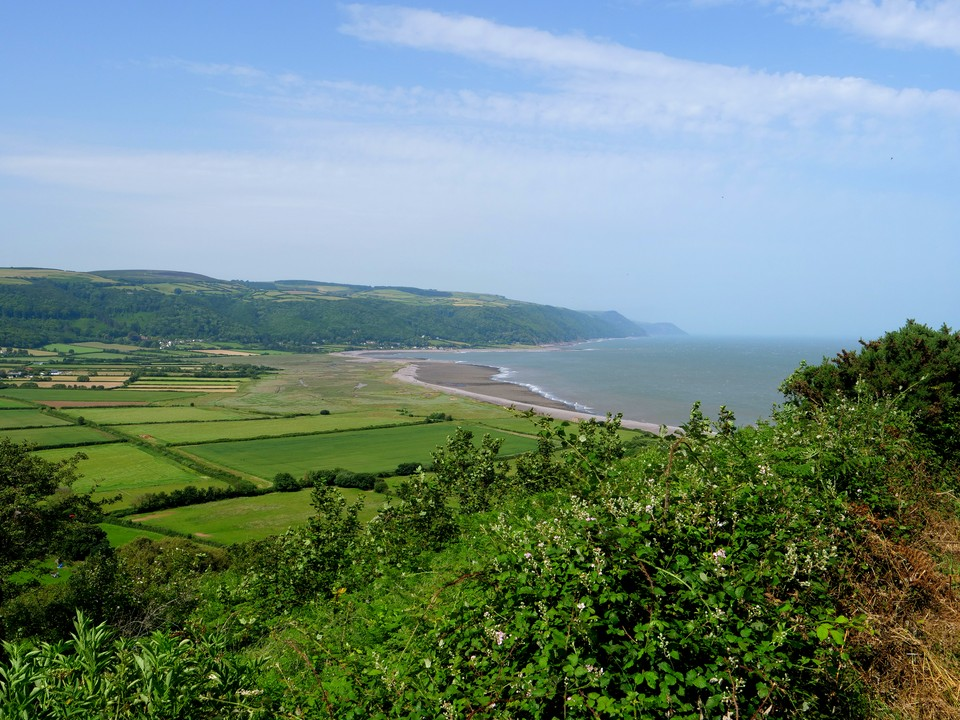 This now took us along a higher path with good views to Porlock Weir and the coast beyond