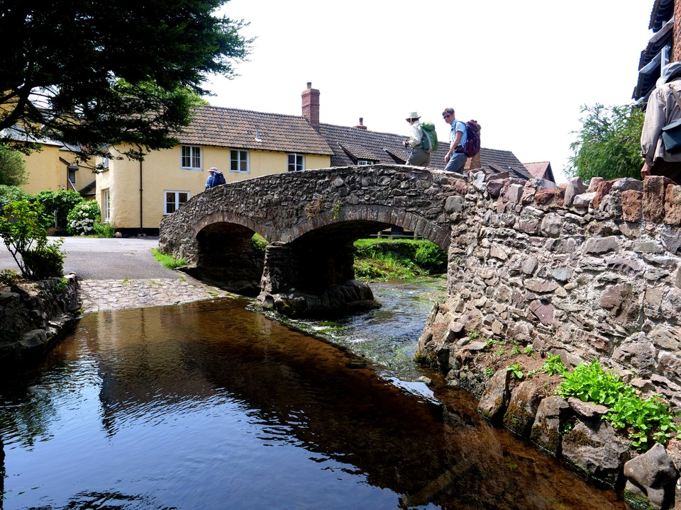 The bridge and ford at Allerford
