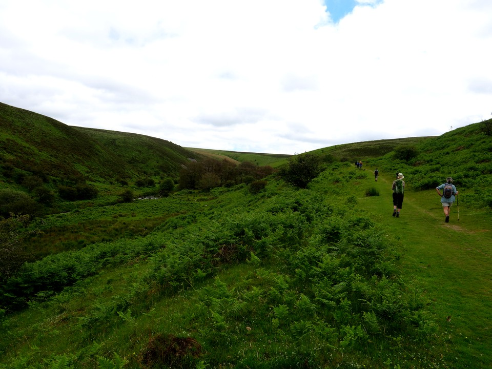 Heading up Badgworthy Water - Doone Valley. Then over Withycombe Ridge back to Dry Bridge