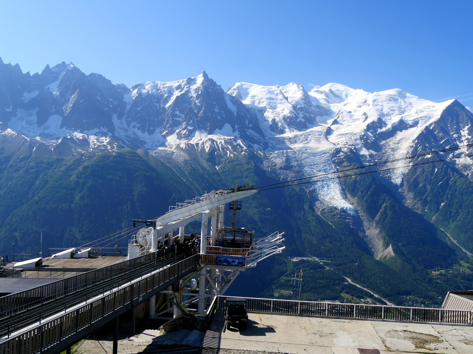 The view of Mont Blanc from Brevent mid station