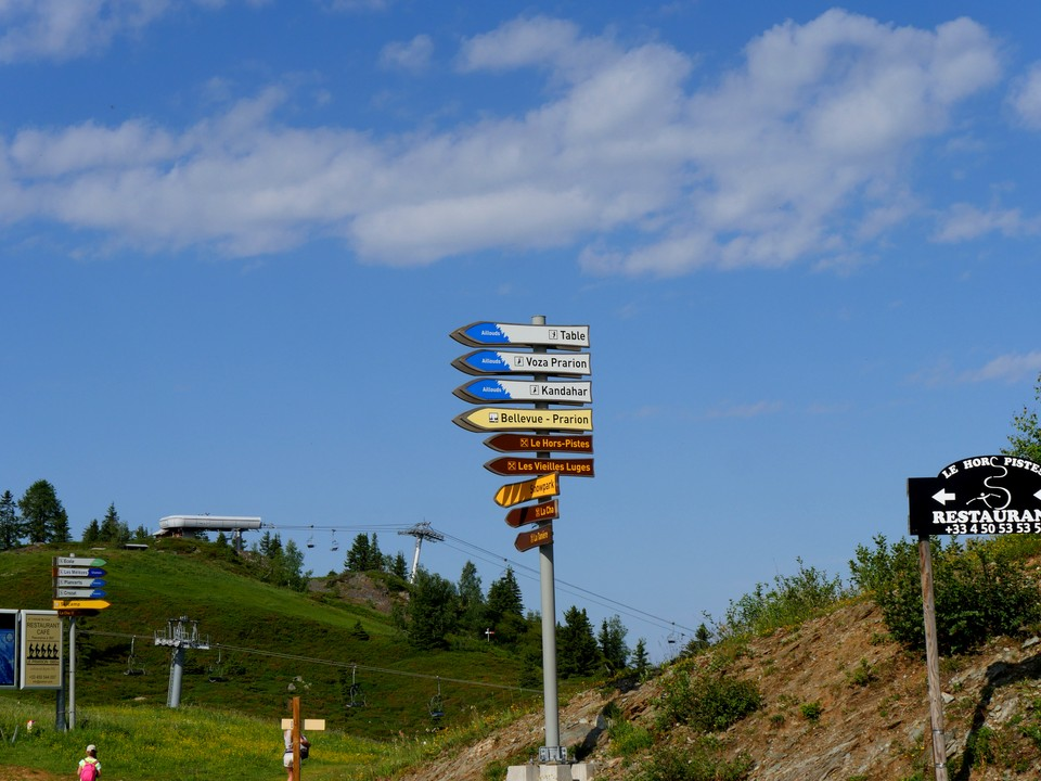 Plenty of sign posts to select a route