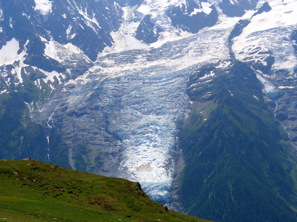 The glaciers on Mont Blanc