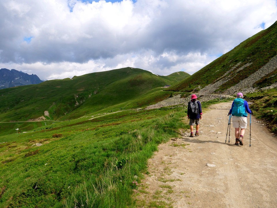 A broad track to the Col de Balme