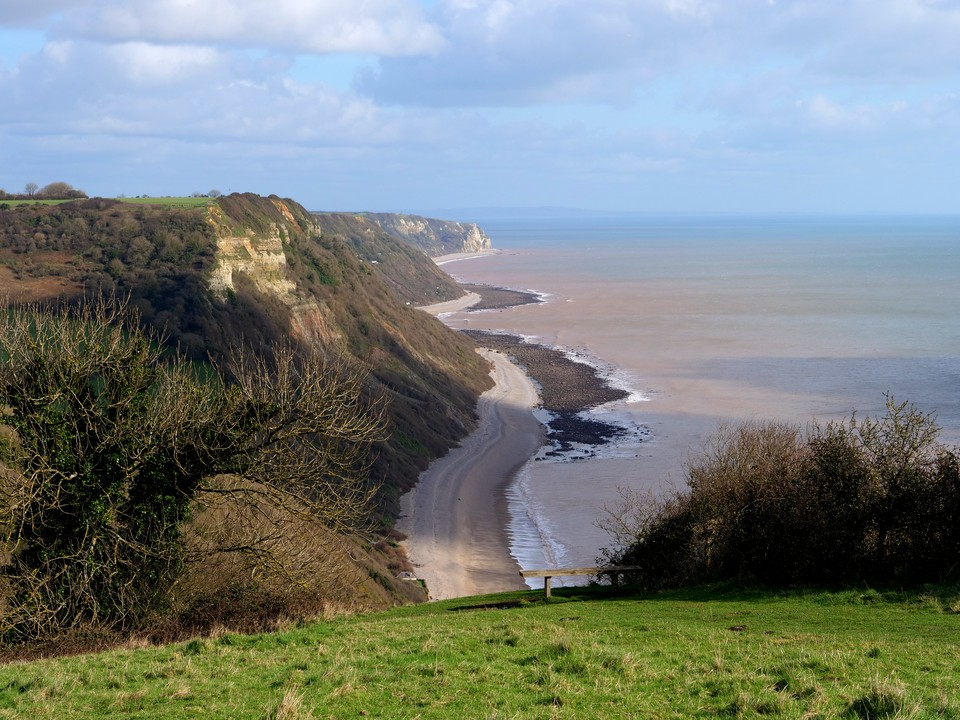 The view from Higher Dunscombe Cliff - looking east to Beer head