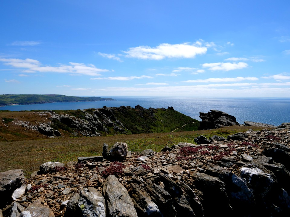 Bolt Head in the foreground. Prawle Point in the distance.