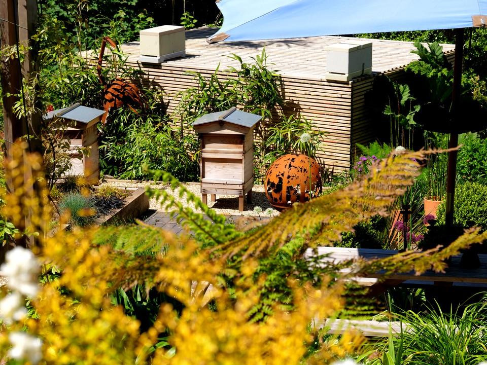 Bee hives at Overbecks