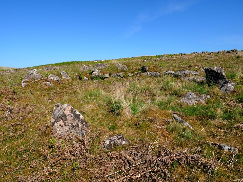 Ancient hut circles besid the reservoir