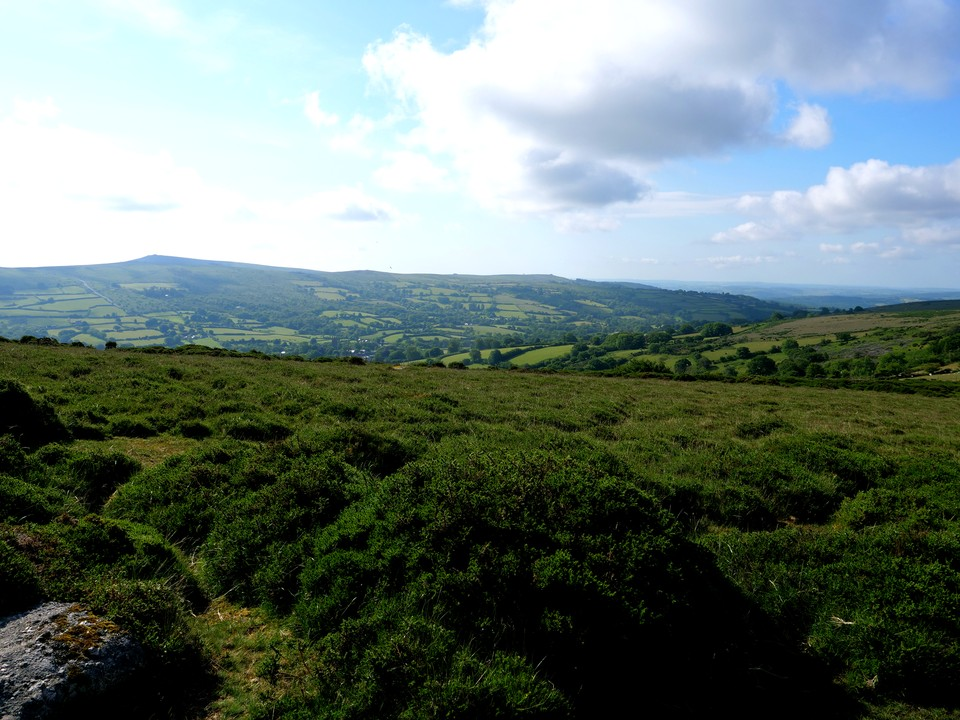 The view to the east of Rippon Tor to Buckland Beacon