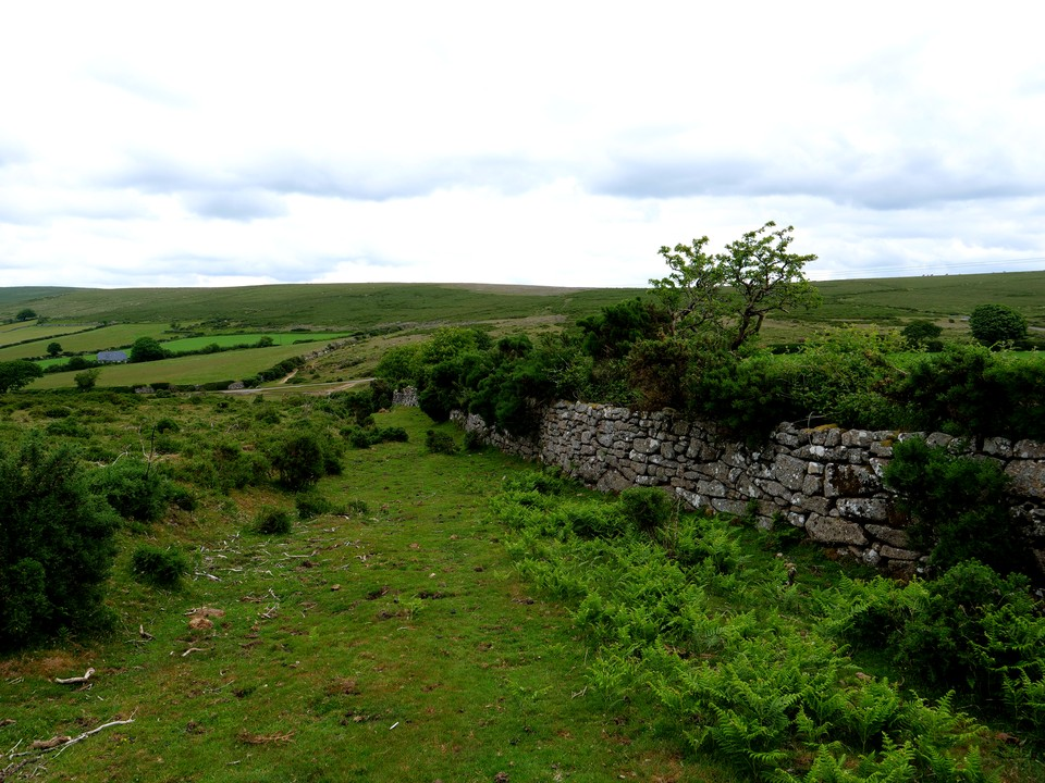 Follow the wall down off Rowden Down and cross the small road to head back up Dunstone Down to the car park.