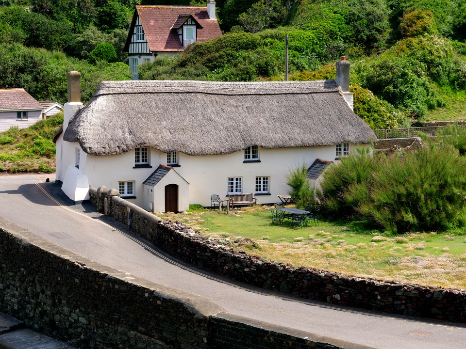 An old thatched house in Hope Cove