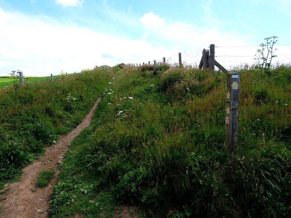 The path heading inland from Woolman Point