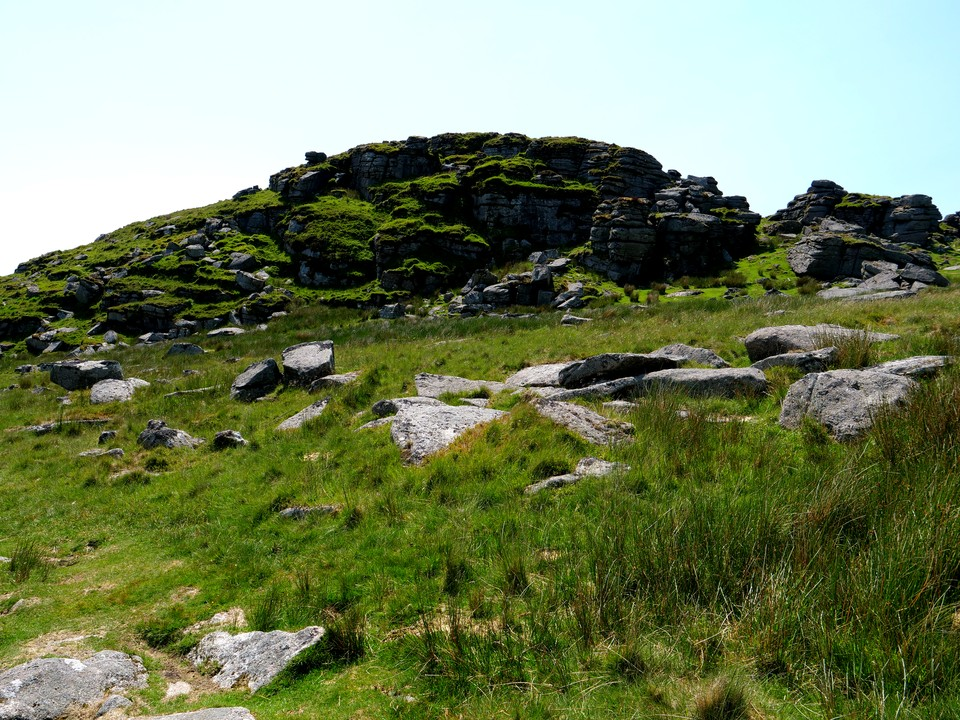 Longaford Tor. Follow the path to the left