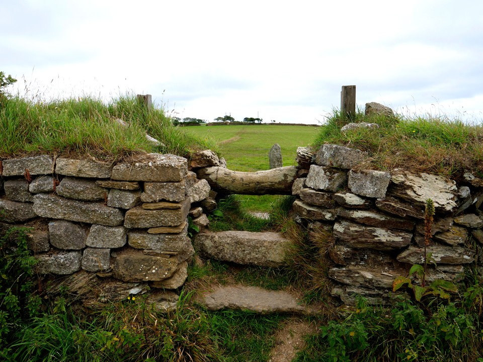 An old stone stile on the Saint's Way