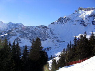 2005-01-11-13-55-09_wengen-holiday-jan-2005-053_wengen-holiday-jan-2005.jpg  At Murren you can take the funicular up to Allmendhubel and walk back down into Murren.You cannot get up the Schiltgrat chair with a walkers pass even though a walking path is shown coming back from the top. We declined to walk up and back.From Murren look for the path signed down to Gimmelwald. Steady downhill with good views.Get the big gondola down from Gimmelwald and the bus back from Stechelberg to Lauterbrunnen.