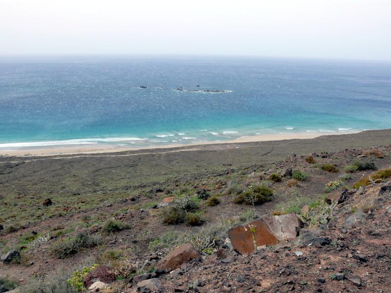Lanzarote Playa de la Famara walk Lanzarote Playa de la Famara walk