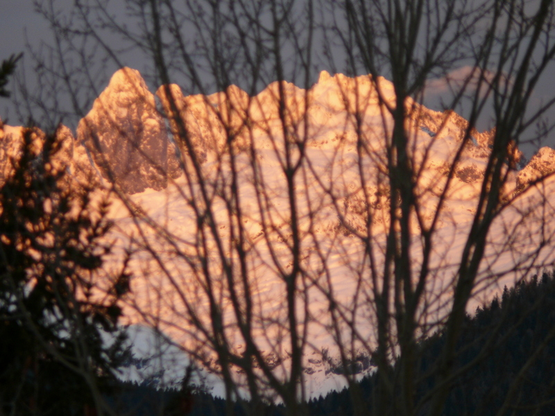 Sunset over Mt Blanc from Le Bettex St Gervais France Sunset over Mt Blanc from Le Bettex St Gervais France