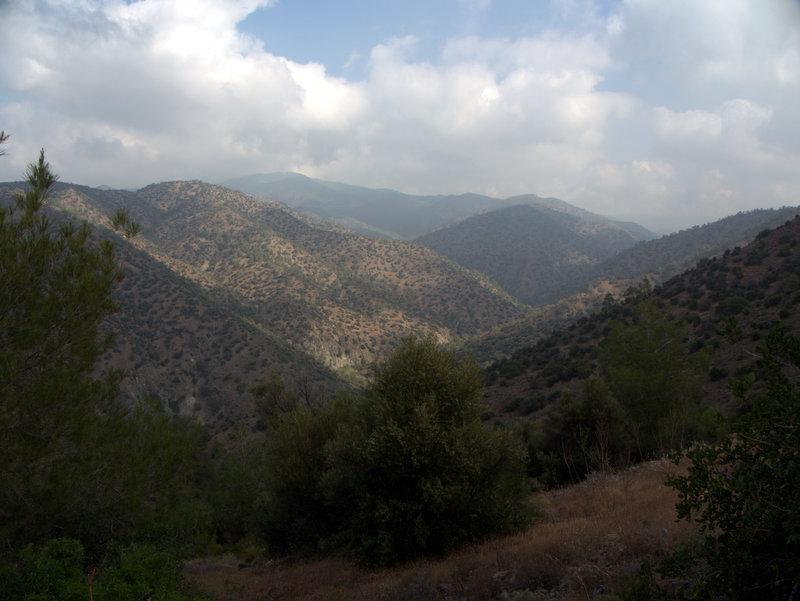 Mountain views, Foinikaria Kyparissia Nature Trail Lemosos Forest Cyprus  Germasogeia Dam Foinikaria Kyparissia Nature Trail Lemosos Forest Cyprus 2010-04-29