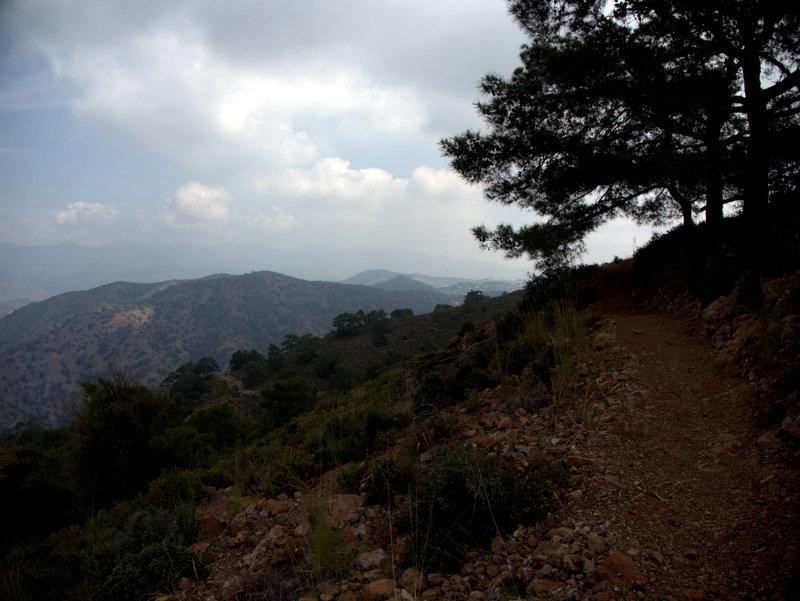 Path and mountain views, Foinikaria Kyparissia Nature Trail Lemosos Forest Cyprus  Germasogeia Dam Foinikaria Kyparissia Nature Trail Lemosos Forest Cyprus 2010-04-29