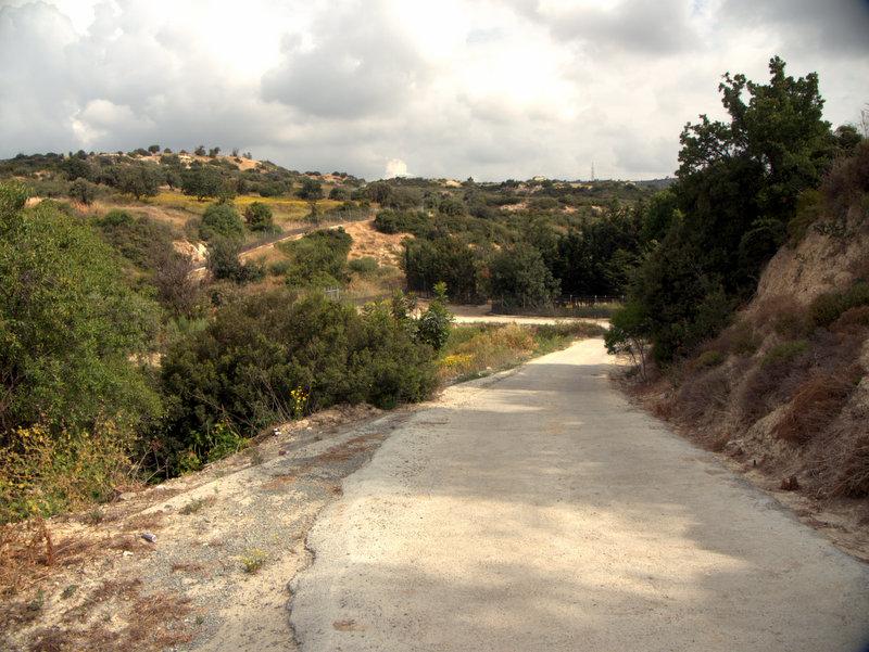 Road Alekhtora to Khapotami Gorge, Walking Cyprus.  Alekhtora Khapotami Gorge Kato Arkhimandrita 2010-04-30