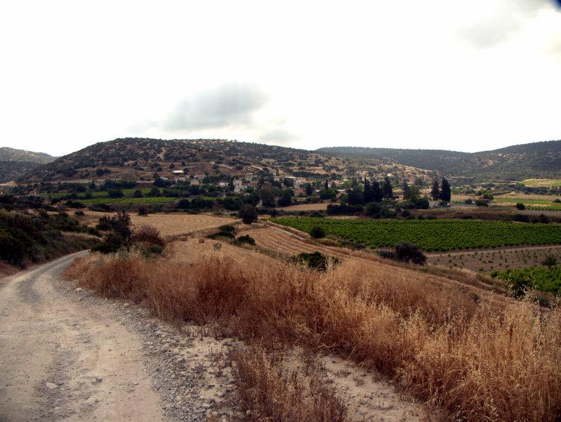 Views from the track Alekhtora to Khapotami Gorge, Walking Cyprus.  Alekhtora Khapotami Gorge Kato Arkhimandrita 2010-04-30