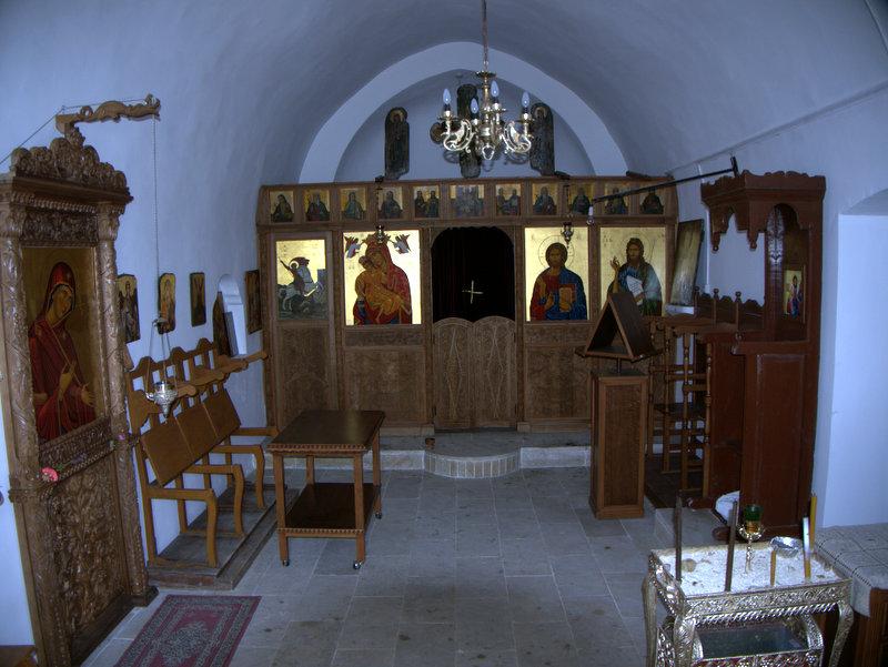 Church, Kato Archimandrita ruined village, walking Cyprus  Alekhtora Khapotami Gorge Kato Arkhimandrita 2010-04-30