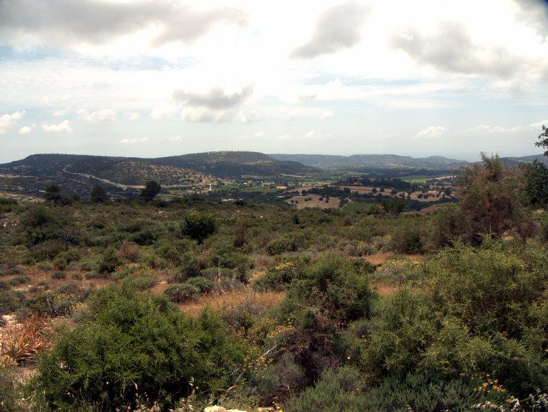 Open views, Kato Archimandrita to Alekhtora , walking Cyprus  Alekhtora Khapotami Gorge Kato Arkhimandrita 2010-04-30