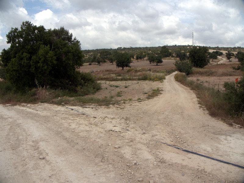 Take the right fork Kato Archimandrita to Alekhtora , walking Cyprus  Alekhtora Khapotami Gorge Kato Arkhimandrita 2010-04-30