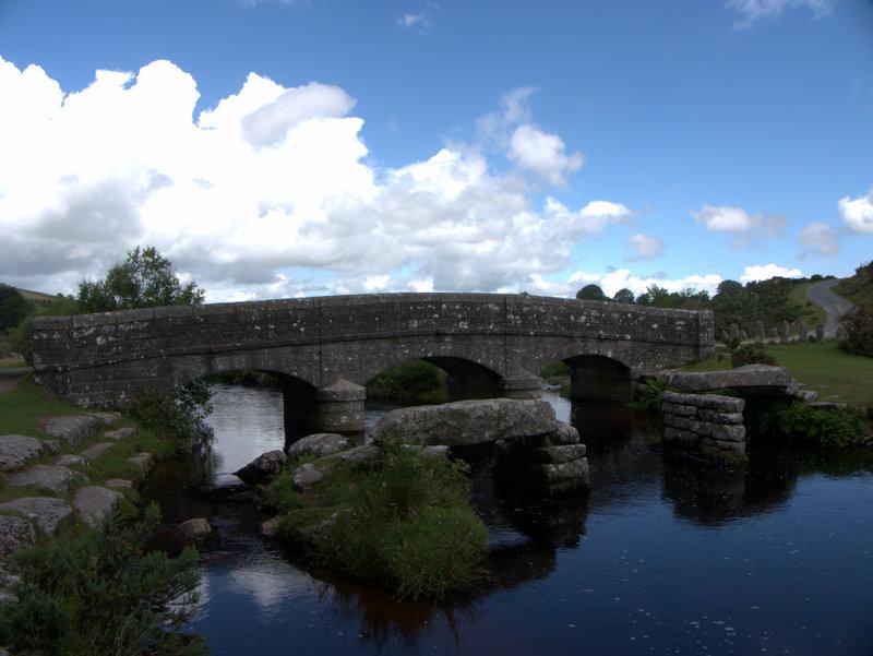 Bellever Clapper Bridge  postbridge belliver bridge Dartmoor 2010-07-21