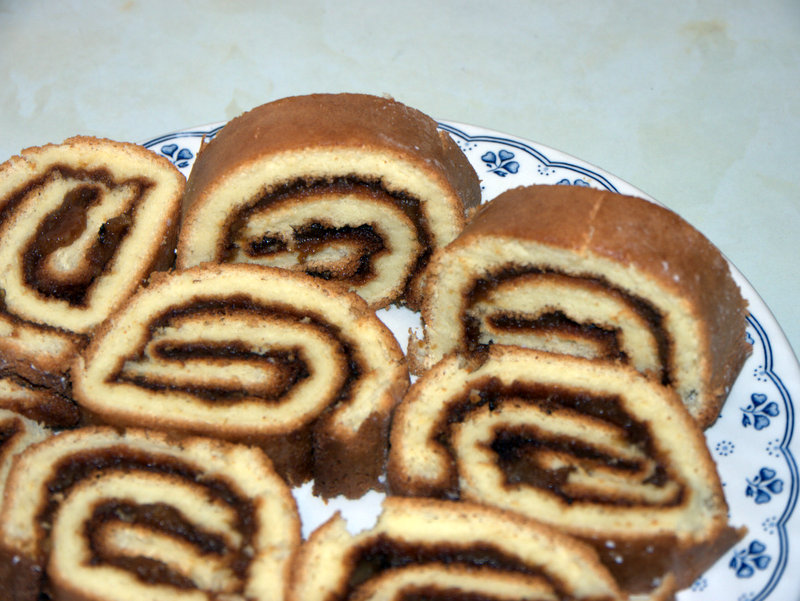 Swiss Roll with Apple Jam Filling A gluten-free Swiss Roll with an apple jam filling
