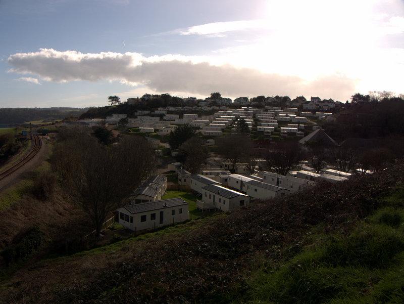 A caravan park from sugar loaf hill
