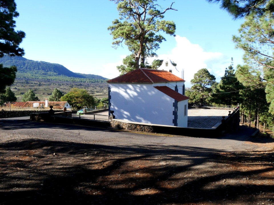 The church in the pine forest. Virgin del Pino