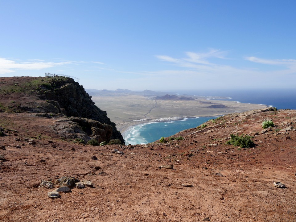 Great views south to Caleta de Famara