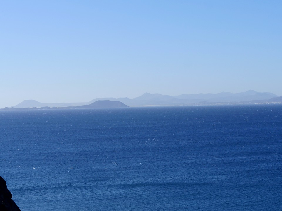 Fuerteventura in the distance