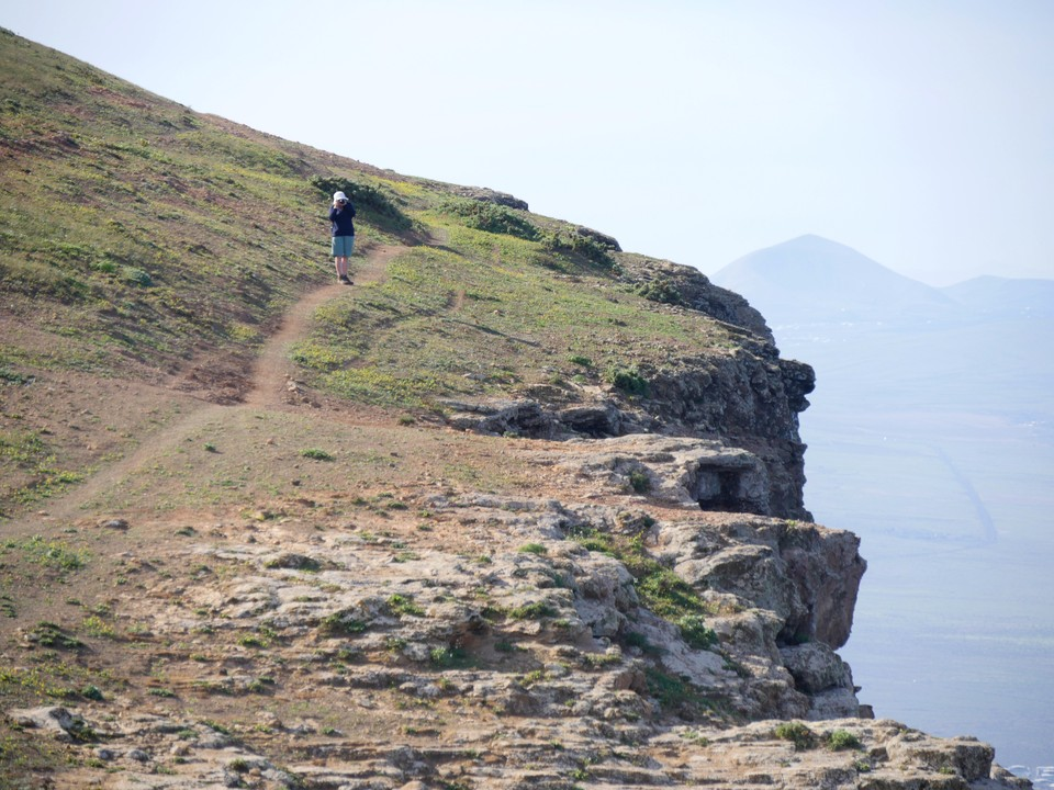 The cliff top path