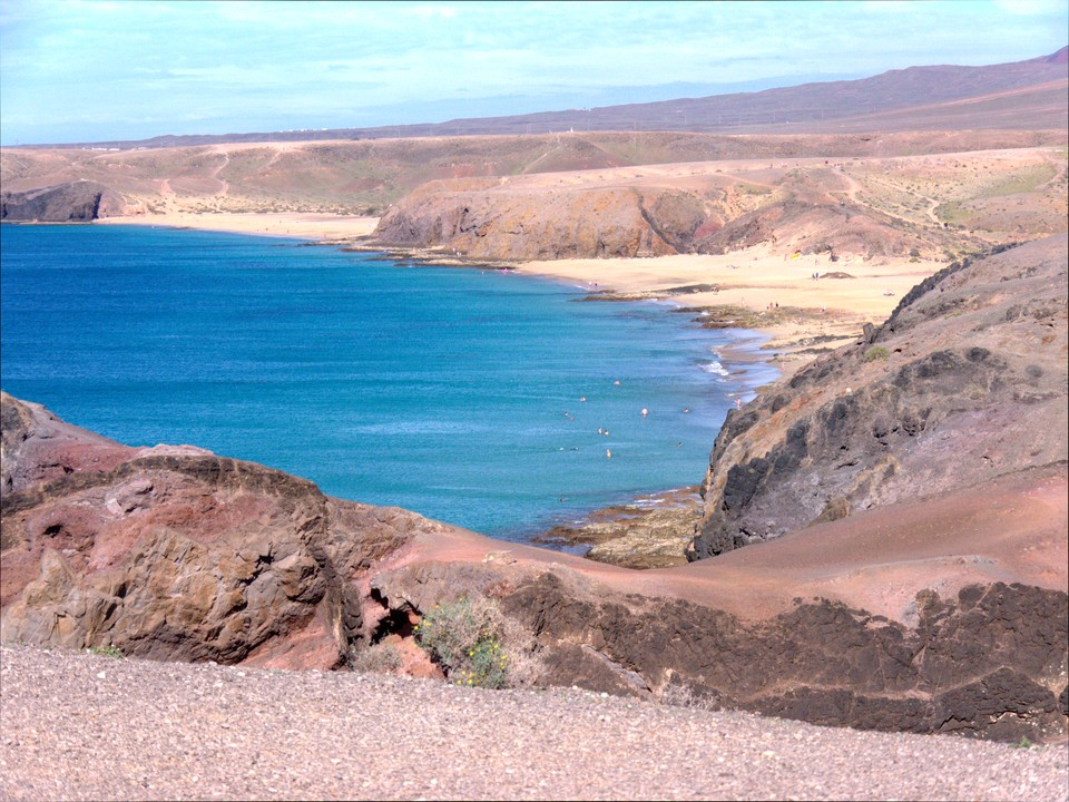 Looking back along the coastline towards Playa Blanca from Punta de Papagayo